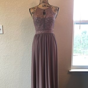 Taupe Prom Dress